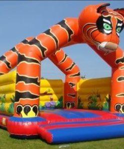 Lej en TIGER hoppeborg 6 x 7 meter ( dagsleje)