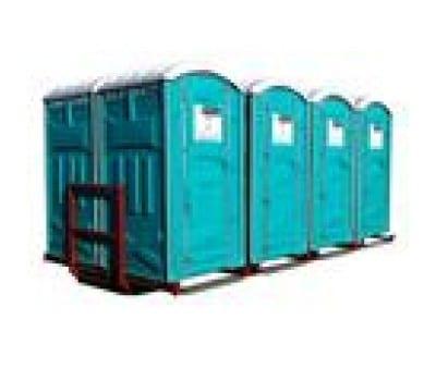 8 Toiletter på containervogn L: 5,50m. B: 2,50m. H: 2,50m. 3