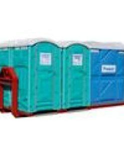 4+1 (Toiletvogn inkl. 1 pissoir ) L:4,50m. B: 2,5m. H: 2,50m