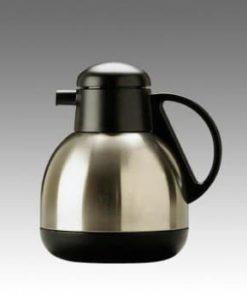 Termokande kaffe, børstet stål, buttet (1 liter)