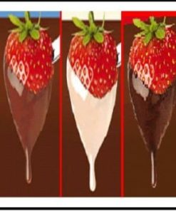 Chokolade 1000gr. LYS til chokoladefontæne inkl. 100 gr. kakaosmør
