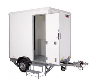 Mobilt badeværelse L 3,60m B 2,20m H 2,90m, weekendleje 2