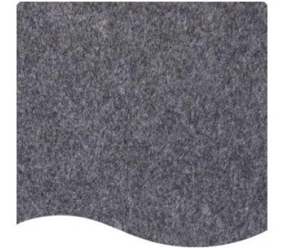 messetæppe mørkegrå meleret