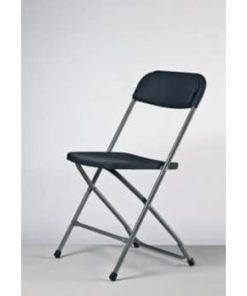 sort og grå klapstol