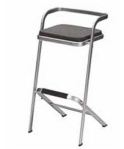 barstol med sort firkantet sæde