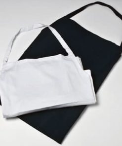 Lej forklæde med smæk hvid - Festudlejning