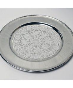 Royal dækketallerken, sølvplet (inkl. DUNI mellemlægsserviet) 30,5cm 10 stk.