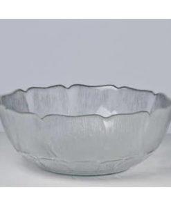 Salatskål i glas - Mellem (23 cm)