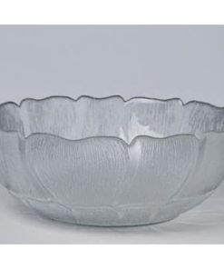 Salatskål i glas - Stor (27 cm)