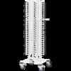 Tallerkenstativ hvid til 100 tallerkner