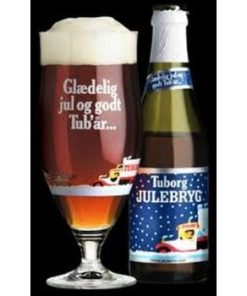 tuborg julebryg glas og flaske