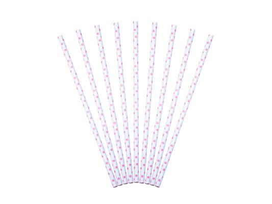 bionedbrydelige miljøvenlige sugerør pink prikket