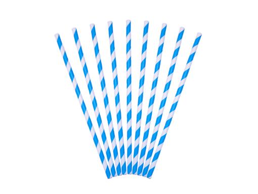 bionedbrydelige miljøvenlige sugerør blå stribet
